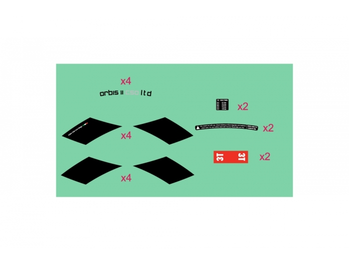 Orbis II C50 LTD STEALTH Wheelset Sticker
